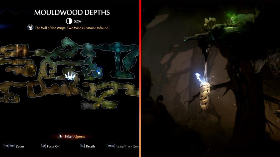 Finding Life Cell Location 14 In Mouldwood Depths